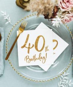 Decoration anniversaire 40 ans