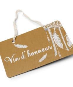 Mariage bohème pancarte kraft vin d'honneur
