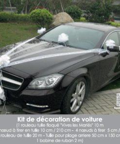 kit decoration voiture mariage