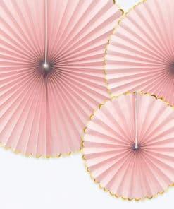 decoration rose et or rosace
