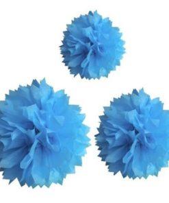 decoration-de-salle-boule-pompon-turquoise