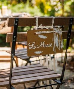Decoration chaise mariés bohème le marié