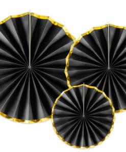 Rosace noir et or deco mural