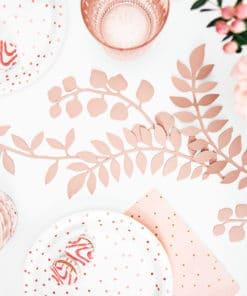 ssiette blanc et rose gold deco