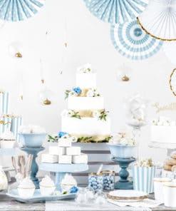 decoration blanc or et bleu
