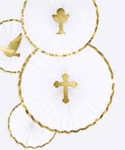 deco communion blanc et or