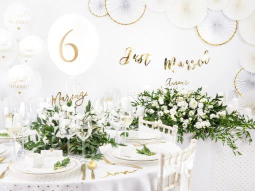 Mariage decoration blanc et or