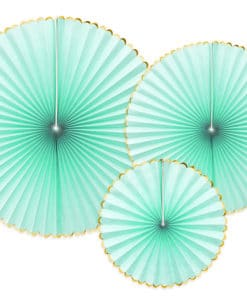 rosace deco mural vert d'eau aqua mint