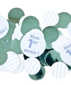 confettis de table anniv bleu