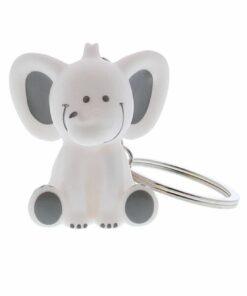 Porte clés éléphant blanc