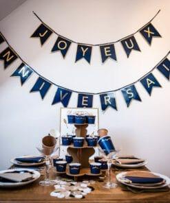 Guirlande anniversaire bleu