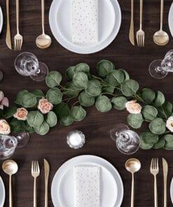 Deco table feuilles