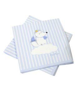 20-serviettes-en-papier-renard-bleu